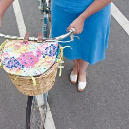 Bike basket liner tutorial