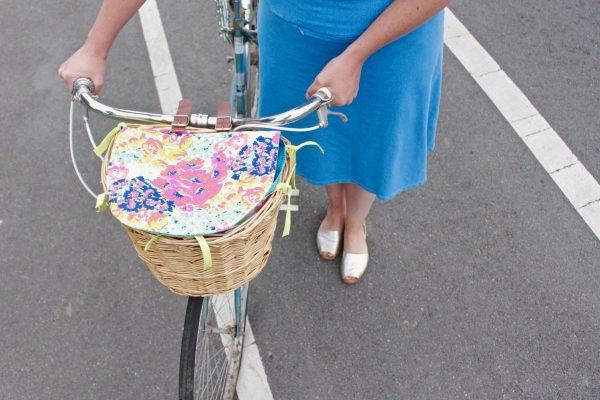 Bike basket liner tutorial