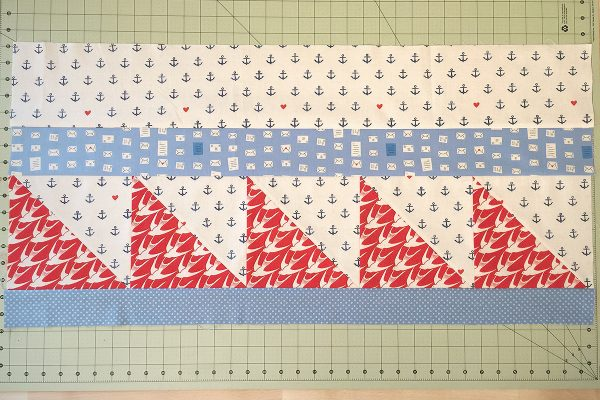 Sea Bird Quilt step 9: press