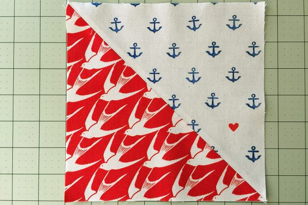 Sea Bird Quilt step 5: trim