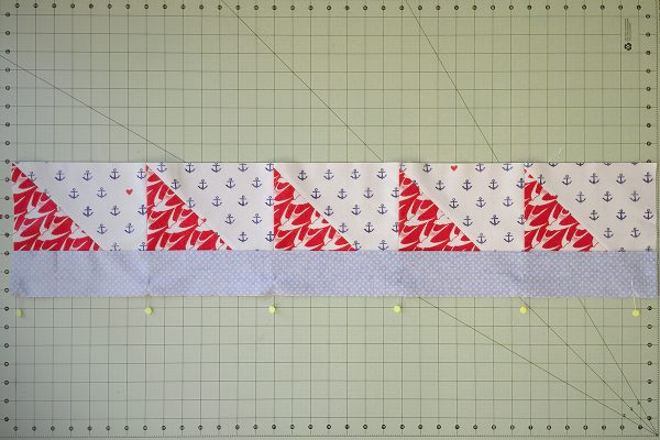 SeaBird Quilt step 7: attach fabric B