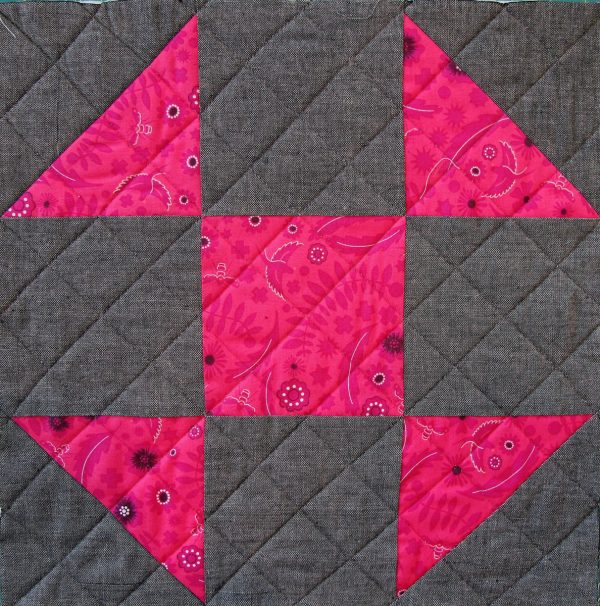 Shoofly Block Tutorial - quilted block