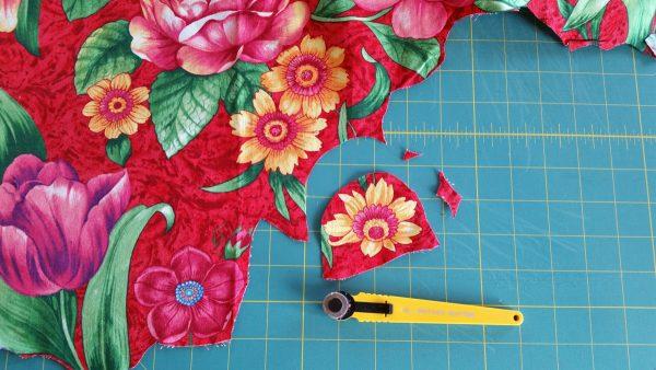 Spring Collage Quilt-trim each motif