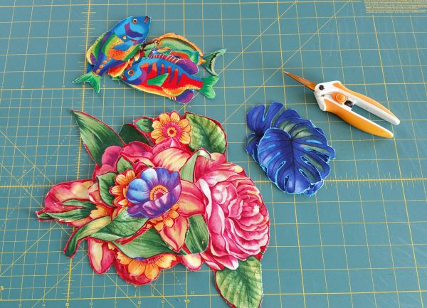 Spring Collage Quilt-assemble the motifs