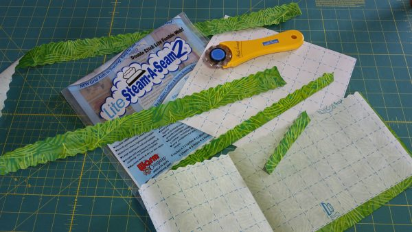 Spring Collage Quilt-folding and binding
