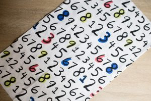 Numbers Fabric