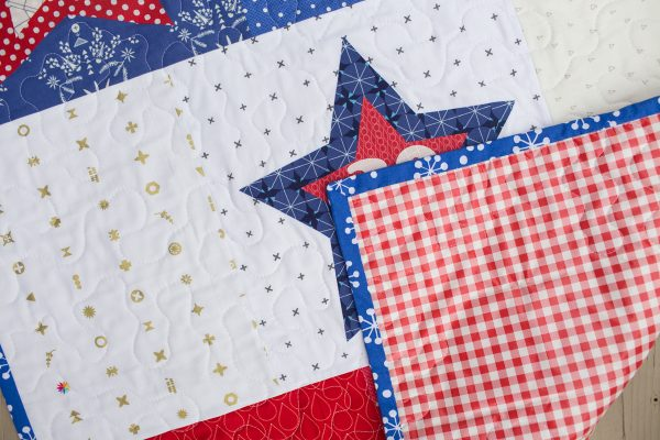 Star Bean Bag Toss Game Quilting Backing Binding