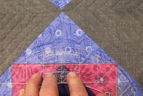 Quilting corner triangles