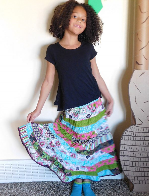 Spiral stril skirt tutorial