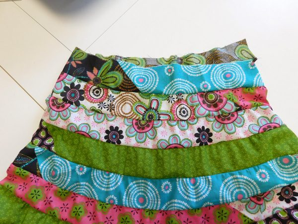 Spiral strip skirt tutorial