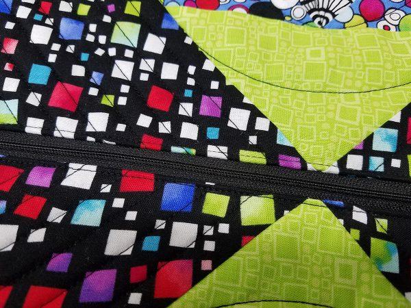 Square in a Square Zipper Bag - Zipper Stitched