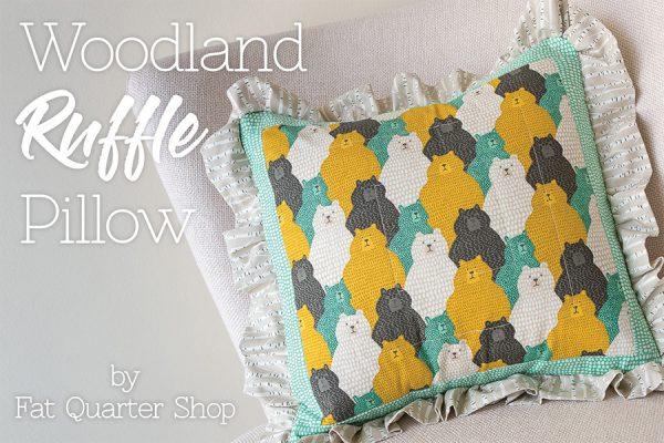 Woodland Ruffle pillow