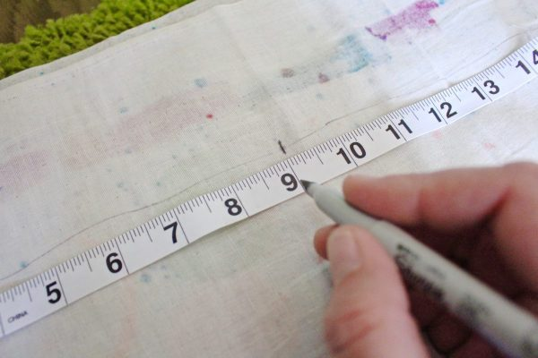 step seven: measure and mark for A
