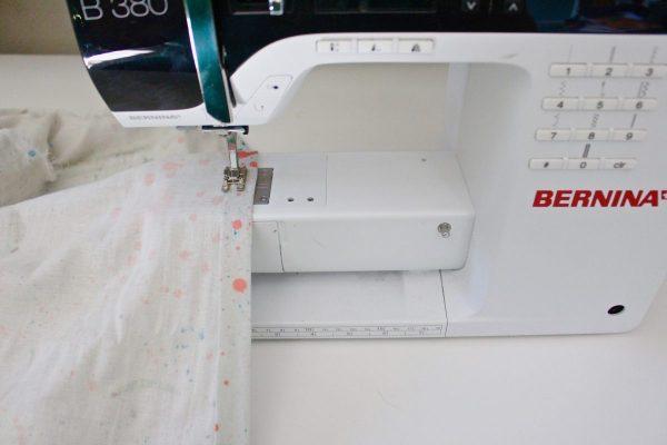 step fifteen: Sew the bottom hem