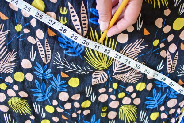 step eight: draw the b line on your fabric