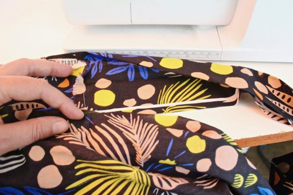 step 25: Insert the top of the skirt into the waistband
