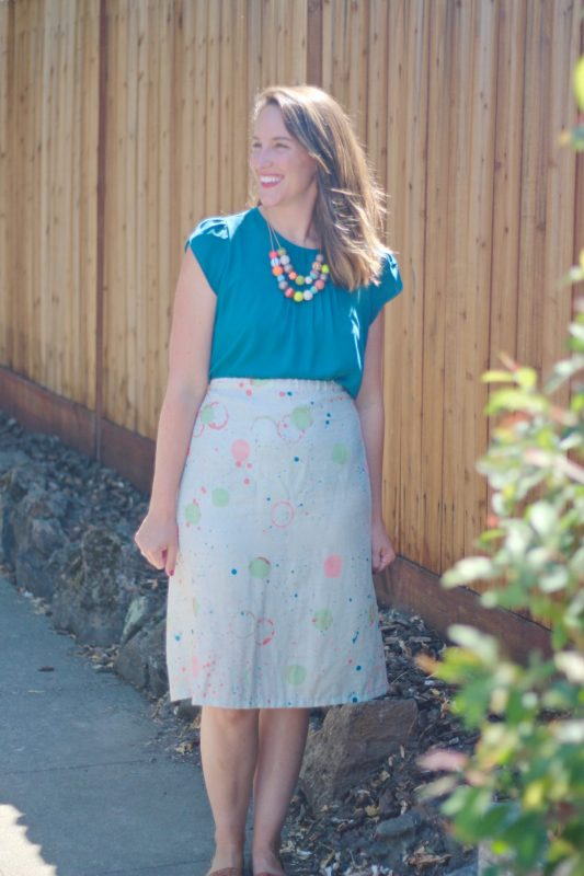 A-line skirt tutorial We All Sew