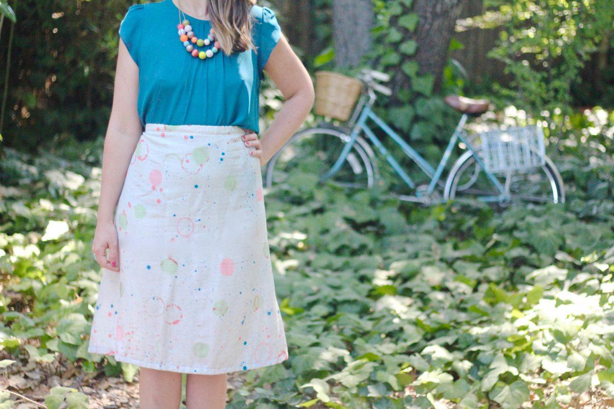 3cba60c123e42b How to sew a 1-Hour A-line Skirt | WeAllSew