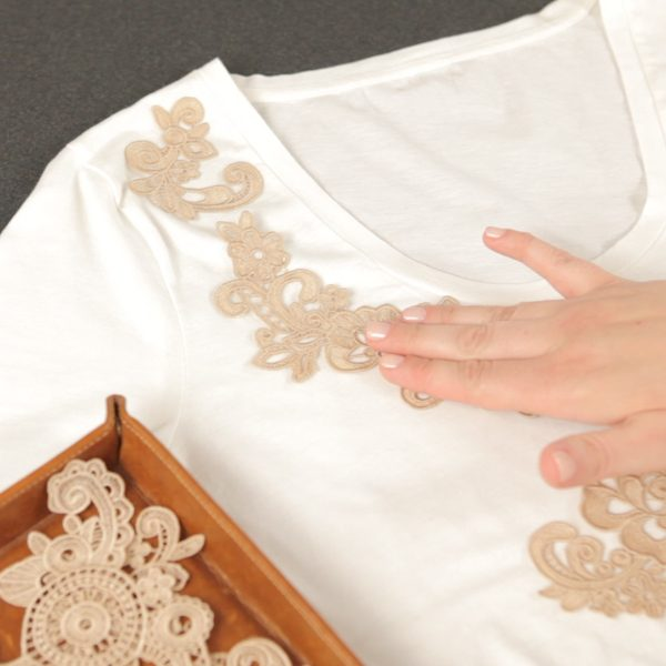 Lace Applique Tutorial-Audition the Appliqué designs