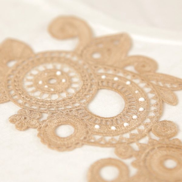 Lace Applique Tutorial-added glue