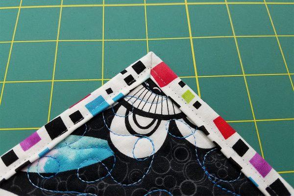 Back side of binding