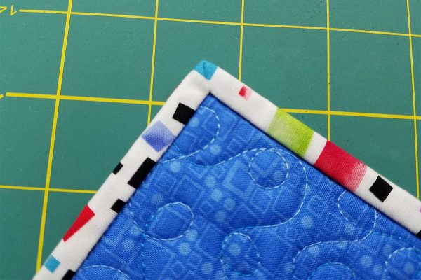Right side of binding