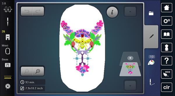Customize Embroidery: 2 open design