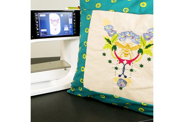 Embroidered Pillow with B 790