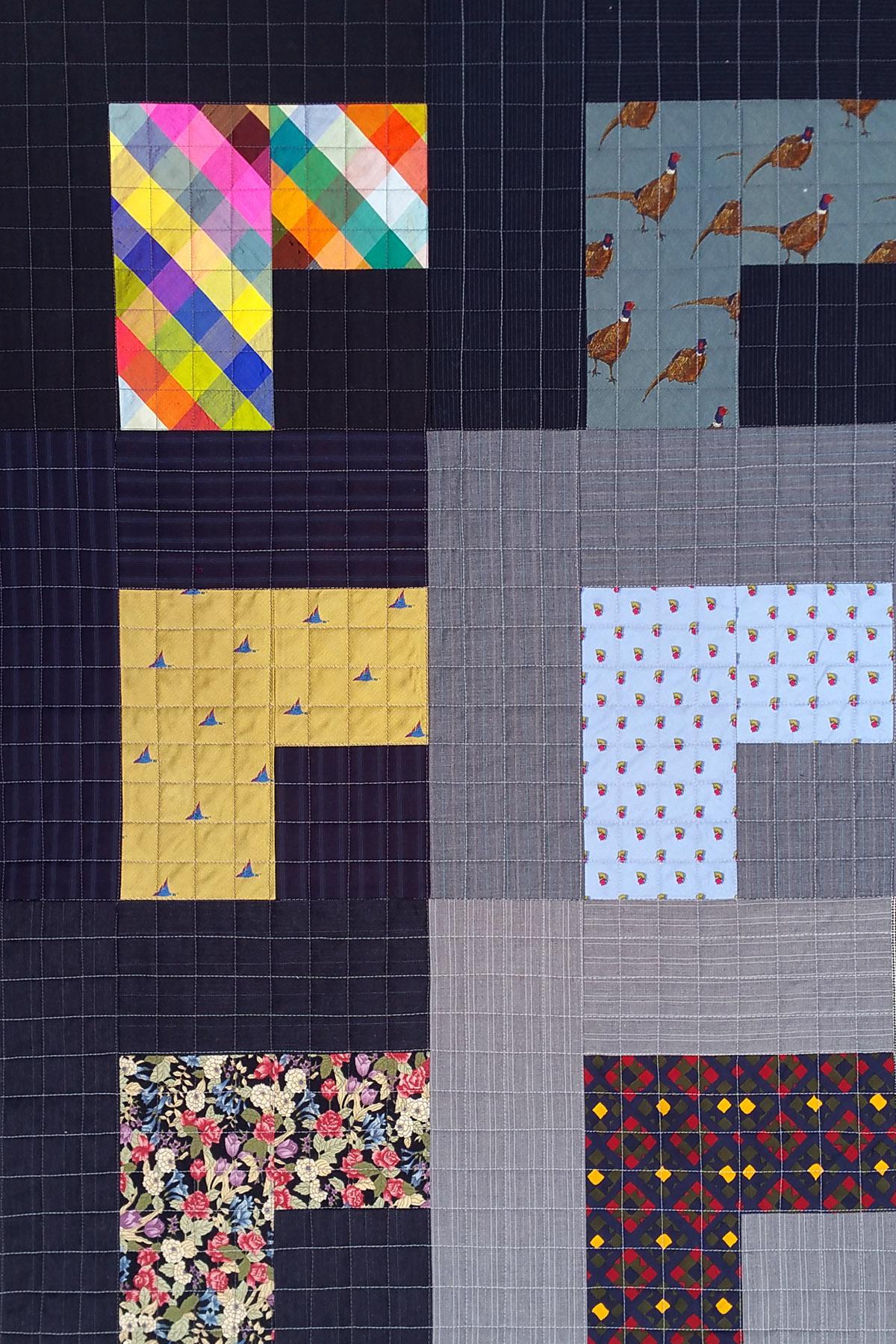 Tie Quilt Detail