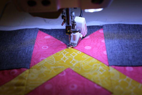 Stitching a gentle wavy line