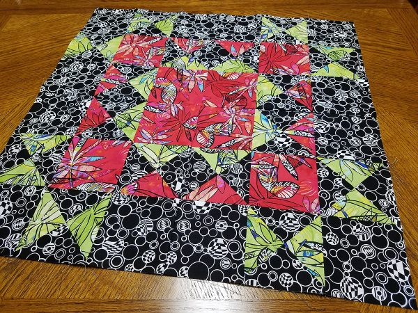 Ohio Star Table Topper Tutorial-piecing