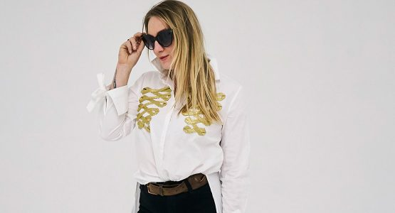 Embellished Shirt with Ornate Rop