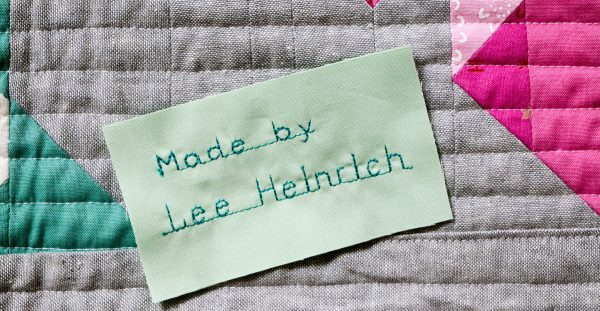 Learn how to label your quilt with WeAllSew