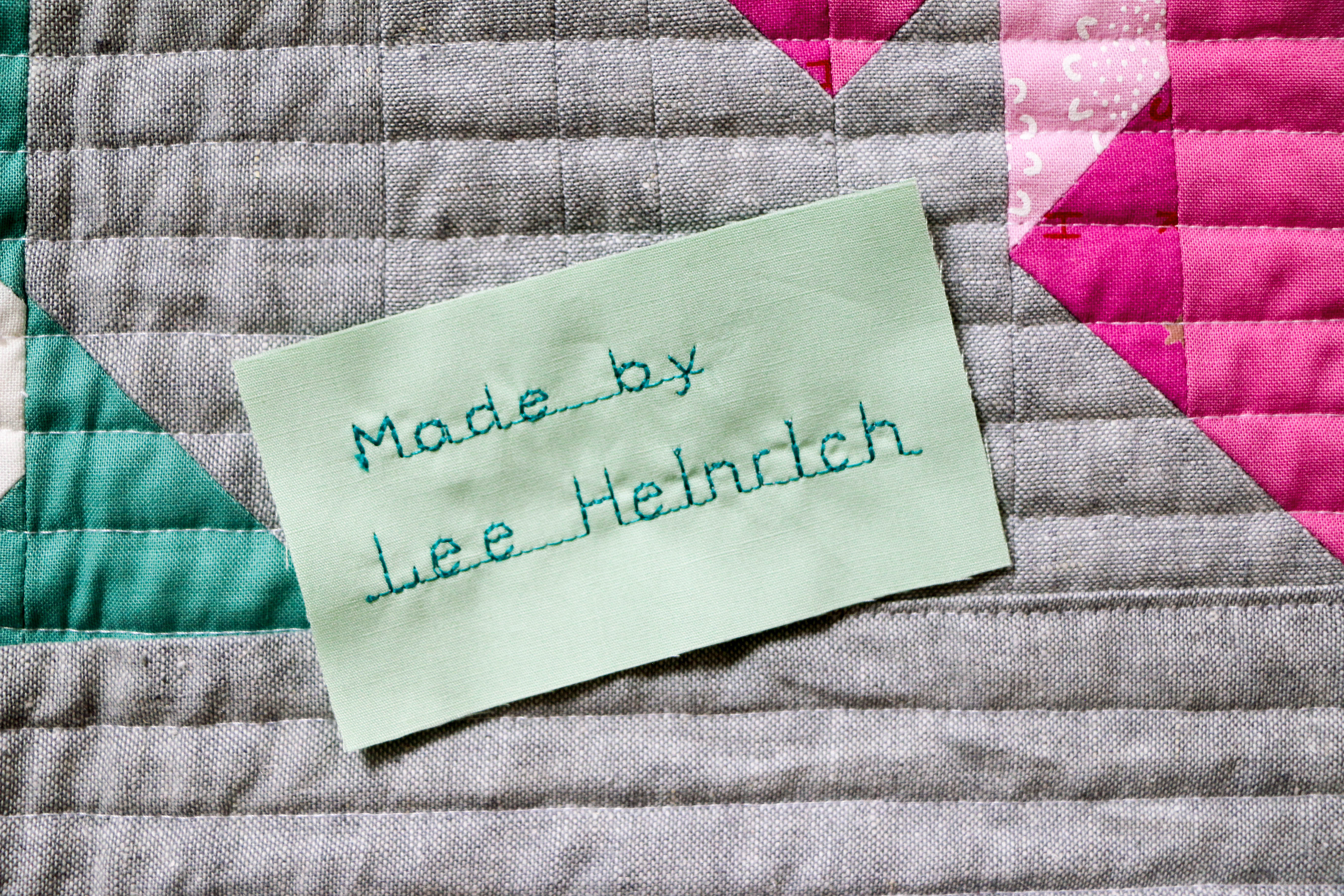 Dont forget the quilt label! weallsew