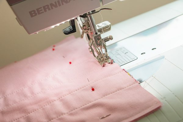 "pin and sew 1/4"" seam"