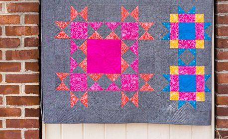 Ohio Star Variation Quilt Block Tutorial
