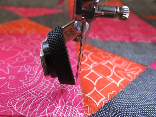 quilting the center of the block
