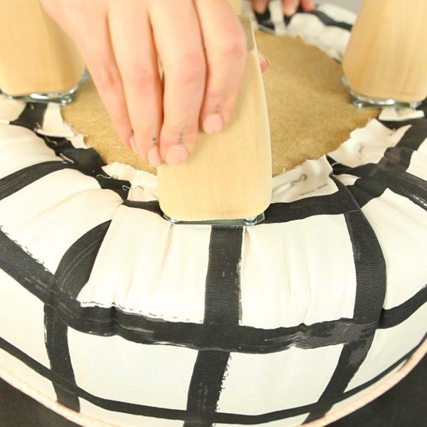 Upholstery 101 Tuffet finishing
