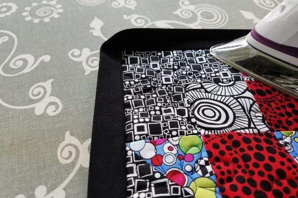 Maple Star Tablet Holder tutorial - Press binding
