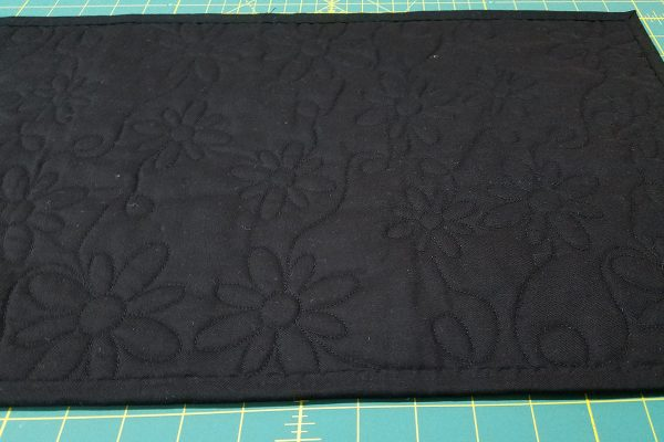 Maple Star Tablet Holder tutorial - Back of Quilt