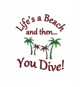 Life's-a-Beach Embroidery Motif