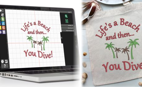 Creating an embroidery motif with BERNINA Toolbox Software