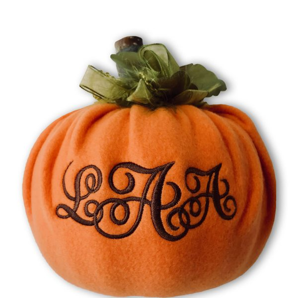 Monogrammed pumpkin tuturial