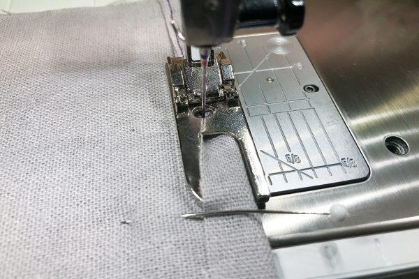 Pojagi: sew first seam