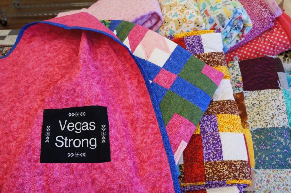 BERNINA embroidered Label Vegas Strong Quilt Drive