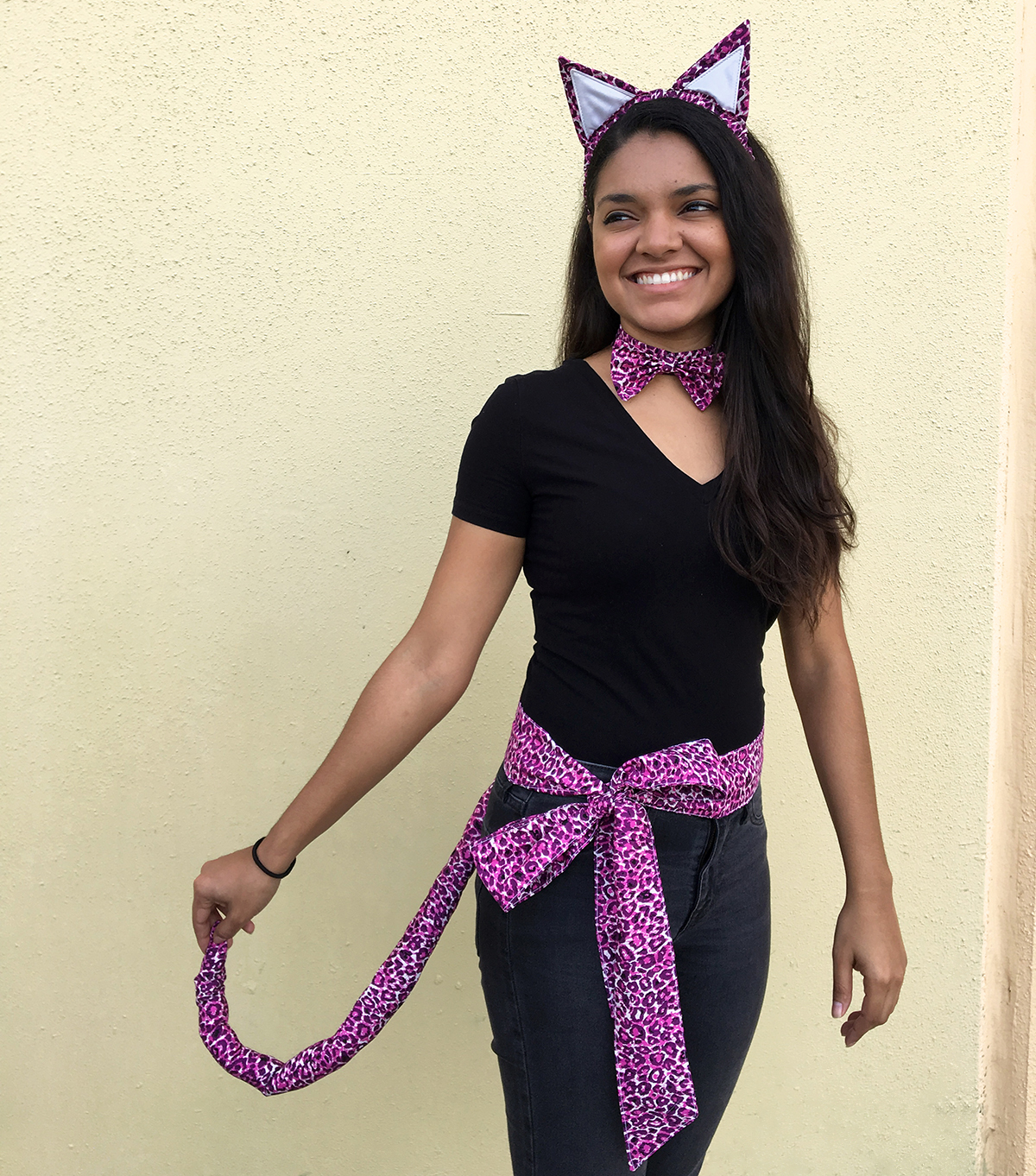 We made our Kitty Cat Costume with the u201cLeopardessu201d print from the Esoterra Fabric Collection. This three piece costume is sure to have your friends begging ...  sc 1 st  WeAllSew & Kitty Cat Costume Tutorial | WeAllSew