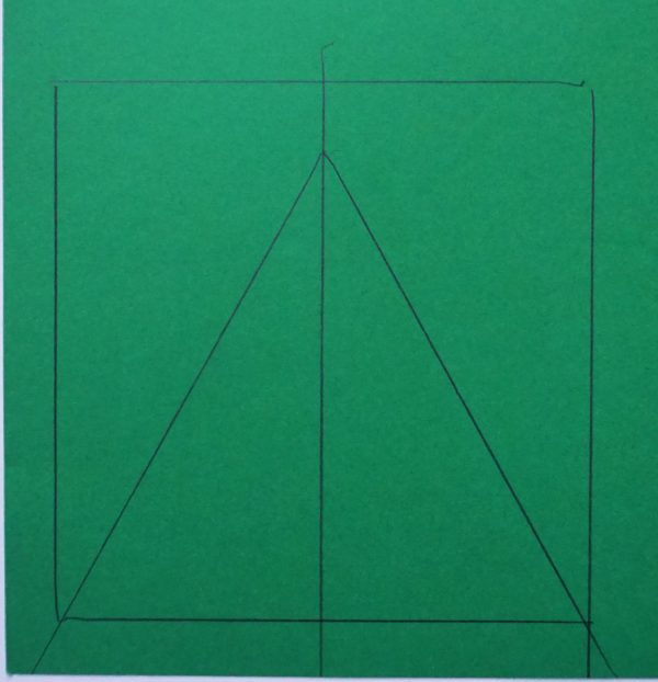 making a triangle template