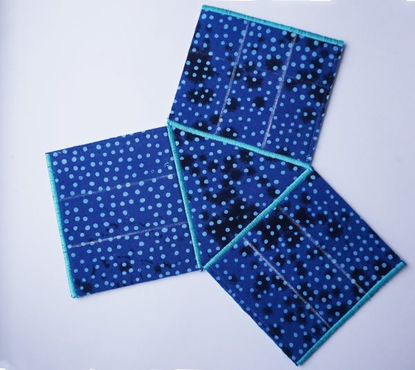 rectangles sewn to the triangle
