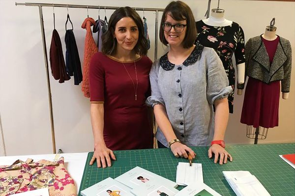 Colette founder, Sarai Mitnick and BERNINA Educator, Jaime David