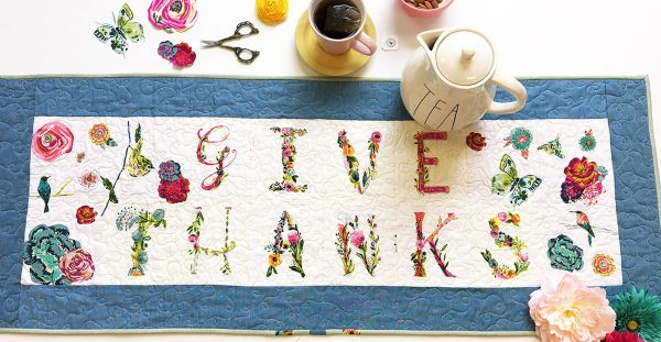 Give Thanks Table Runner Tutorial